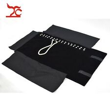 Jewelry Nylon Roll Organizer Bag Necklace Bracelet Carrying Case Display Holder