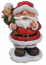 Playful Santa Large Christmas Ornament - Indoor Outdoor Xmas Novelty Decoration