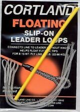 Cortland Floating Slip-On Clear Fly Line Fishing Leader Loops (50 lb test)