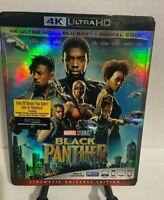 BLACK PANTHER (4K ULTRA HD +BLU-RAY+ DIGITAL CODE) New. Region A, Widescreen
