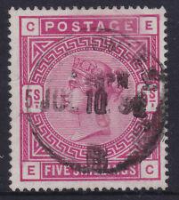 Gb Uk Qv Victoria 1883 5/- Shilling Red Used Ref: Qv34