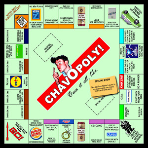 Chavopoly Chav Bam Ned Schemie Funny Drunk Bum Fancy Dress Unisex Outfit Tshirt