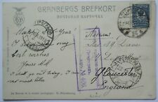 RUSSIA 1915 Postcard - St. Petersburg to Gloucester with censor mark