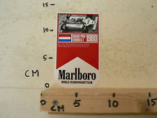STICKER,DECAL MARLBORO 1980 GRAND PRIX FORMULA 1 ZANDVOORT WORLD CHAMPIONSHIP TE