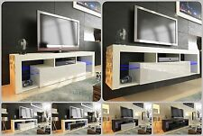 NEW 2020! Superb TV Stand Unit Cabinet 160cm + Floating / Standing + Gloss + LED