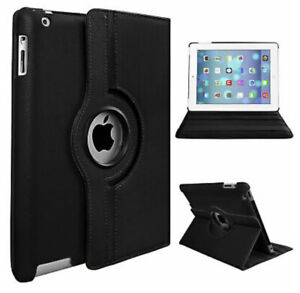 """Leather 360 Rotating Smart Case Cover For iPad Air /Air2 5/6/7/8/9 2018/19(9.7"""")"""