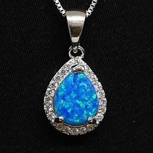 Gorgeous 3.70ctw Opal & Diamond Cut White Sapphire 925 Sterling Silver Pendant