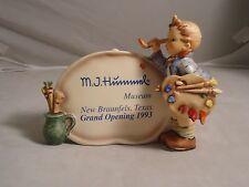 HUMMEL, ARTIST MUSEUM PLAQUE, NEW BRAUNFELS, TEXAS, #756, RETIRED, NEW, MIB