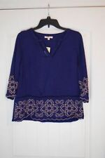 Skies Are Blue Women's Long Sleeves Top Embroidered Design For Stitch Fix NWT