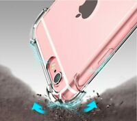 For iPhone XS Max XR XS X 6 7 8 Shockproof Bumper Transparent Silicone Case Cove