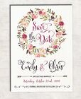 Floral Save the Date Wedding Invitation Bohemian Flowers Boho Engagement Invite