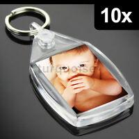 10x Clear Acrylic Blank Keyrings Key Fobs 35 x 24 mm | Small Size Photo