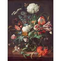 Jan Davidsz De Heem Vase Of Flowers Extra Large Art Poster