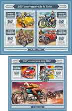 BMW Cars Automobiles Motorbikes Planes Aviation Transport Togo MNH stamp set