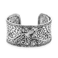 "Sterling 925 Silver Octopus Cuff Bangle Bracelet Women Gift Jewelry Size 7.25"""