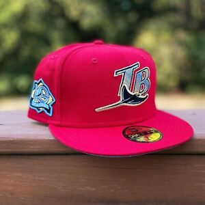 Tampa Bay Rays New Era 59FIFTY Exclusive Fitted Red Blue UV 7 3/8 ✅in Hand