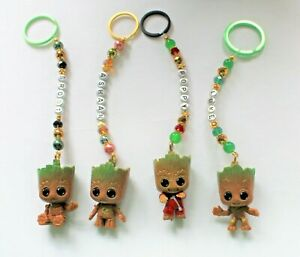 Cute Personalised Baby Groot  keyring / bag charm (you chose a name) 4 designs