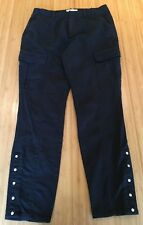 COUNTRY ROAD Charcoal Grey Stretch Press Stud Ankle Skinny Fit Cargo Jeans 8