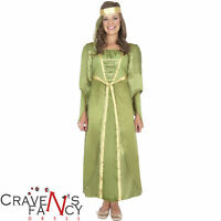 Girls Maid Marion Juliet Costume Child Kids Medieval Fancy Dress Book Week New