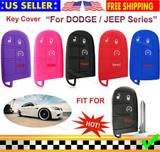 Silicone Case Entry Cover Holder for Dodge Ram Durango Jeep Renegade Car Key Fob