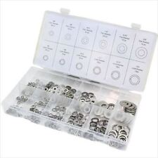 350-PC Stainless Steel Flat Washers Assortment Steel Lock Washer Set