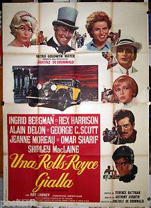 manifesto 4F film THE JELLOW ROLLS-ROYCE I.Bergman J.Moreau A.Delon Sharif 1965