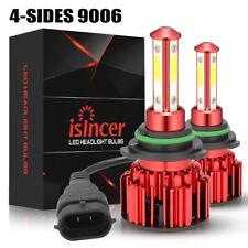 9006 1820W 273000LM 4-Sided LED Headlight Conversion Kit 6000K White Bulbs Pair