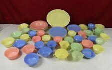51 Piece Hazel Atlas Multicolor Moderntone Dinnerware Set
