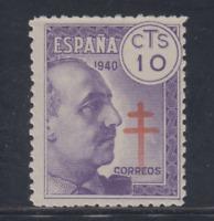 ESPAÑA (1940) MNH NUEVO SIN FIJASELLOS -EDIFIL 936 (10 cts) TUBERCULOSOS LOTE 3
