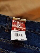 NWT NEVADA MENS JEANS RELAXED FIT W44 L30 100%COTTON