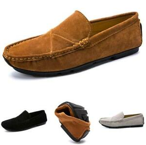 38-47 Mens Driving Moccasins Shoes Pumps Slip on Loafers Soft Comfy Breathable L