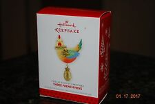 2013 Hallmark Three French Hens Twelve Days of Xmas #3 series Keepsake Ornament