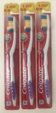 3 Colgate Premier Toothbrush-Extra Clean Firm Hard Full Head Freshness-Purple
