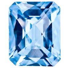 OCTAGON SAPPHIRE AQUA BLUE 10x8 mm. LOOSE DIAMOND-SPARKLING HARDNESS 9