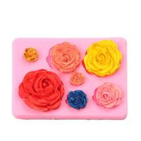 3D Rose Flower Silicone Fondant Sugarcraft Chocolate Cake Decorating Soap Mould