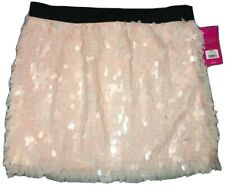 Candie's Mini Skirt Pink Sparkle Sequin Women's size L. New w/ Tags. MSRP $42.00
