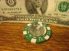 MIRROR Reflection Dice design Poker Chip,Golf Ball Marker,Card Guard Green/White