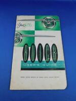 BUICK 1956 CAR USERS GUIDE MANUAL CAR MAINTENANCE ADVERTISING