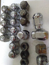 23 pieces various, 1/2-20, Coy 20.1 7/16 RH M/T, 150 RH used lug/wheel nuts READ