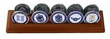 DECOMIL Military Collectible Challenge Coin Holder (Medium, 2 Rows) Solid Walnut