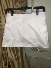 Ivivva Set the Pace Skirt White Girl's Size 14 NEW WITH TAGS