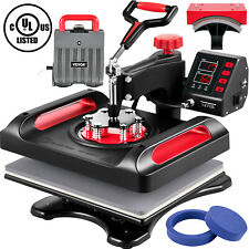 Vevor 5in1 Heat Press 12x15 T Shirtmugplatehat Transfer Sublimation Machine