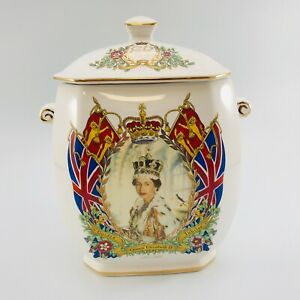Ringtons Commemorative Tea Caddy Golden Jubilee 1952-2002 Boxed Great Condition