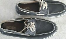 SPERRY TOP-SIDER Mens Shoes Canvas Boat 2-eye Laceup Beach Bahama Gray Aloha 13M