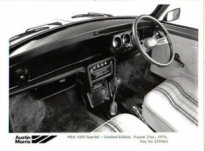 Mini 1100 Special Limited Edition Interior 1979 Original b/w Press Photo 23504C