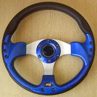 Bleu Sports Direction Roue 320mm en PU Cuir Imitation