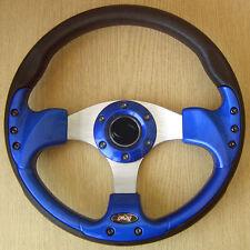 Blue sports volant 320mm en pu cuir imitation