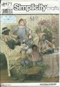 S 8471 sewing pattern 2 sizes DOLLS & CLOTHES sew Dress Bonnet Shoes Pants UNCUT
