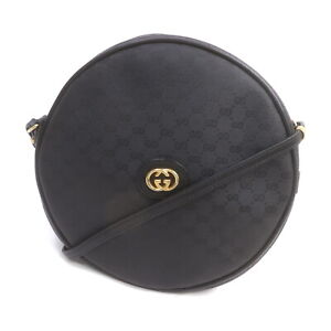 Gucci Shoulder Bag Micro GG Black PVC 1718726