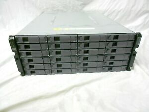 NetApp DS4246 Disk Array Shelf W/ 24x SAS SATA Trays 2x IOM6 Expansion Array